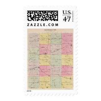 Nemaha County, Wetmore and Corning, Kansas Postage
