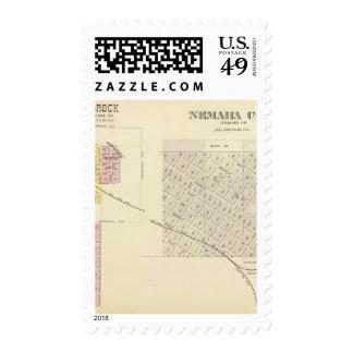 Nemaha Cy and Brock, Nebraska Postage