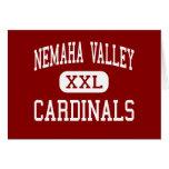 Nemaha Valley - Cardinals - High - Cook Nebraska Greeting Card