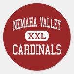 Nemaha Valley - Cardinals - High - Cook Nebraska Sticker