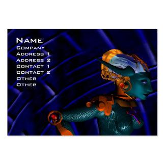 NEMES/cibernética, ingeniero industrial, azul Tarjetas De Visita Grandes