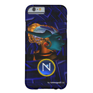 NEMES /HYPER ANDROID,Blue Science Fiction Monogram Barely There iPhone 6 Case