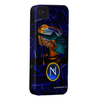 NEMES /HYPER ANDROID,Blue Science Fiction Monogram iPhone 4 Case