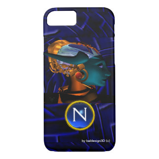 NEMES /HYPER ANDROID,Blue Science Fiction Monogram iPhone 8/7 Case