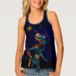 NEMES /HYPER ANDROID,Blue Science Fiction Sci-Fi Tank Top