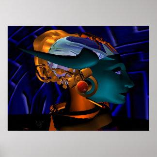NEMES / HYPER ANDROID PORTRAIT, Science Fiction Poster