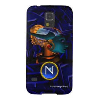 NEMES /HYPER ANDROIDE, monograma azul de la Funda Para Galaxy S5