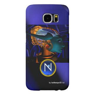 NEMES /HYPER ANDROIDE, monograma azul de la Funda Samsung Galaxy S6