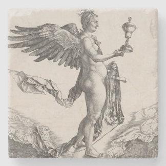 Nemesis by Albrecht Durer Stone Coaster