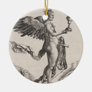 Nemesis Engraving by Albrecht Durer Christmas Ornament