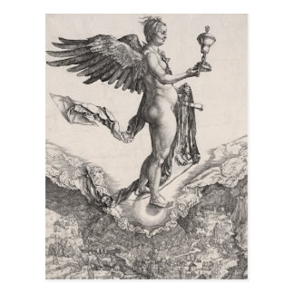 Nemesis, Engraving by Albrecht Durer Postcard