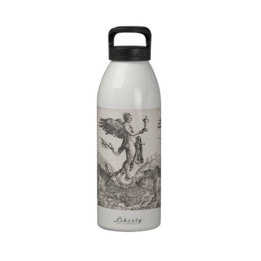 Nemesis, Engraving by Albrecht Durer Reusable Water Bottles