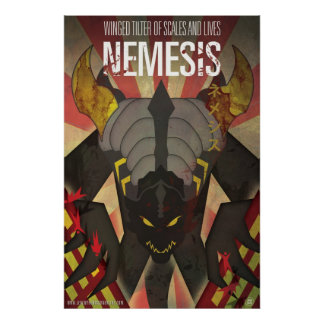 Nemesis Kaiju Poster - Art by James Biggie