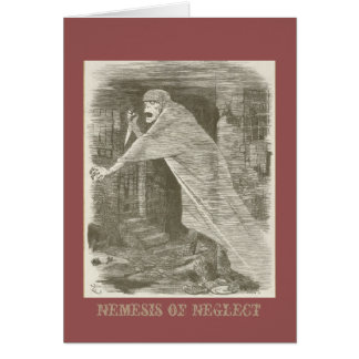 Nemesis of Neglect. Jack the Ripper satire Card