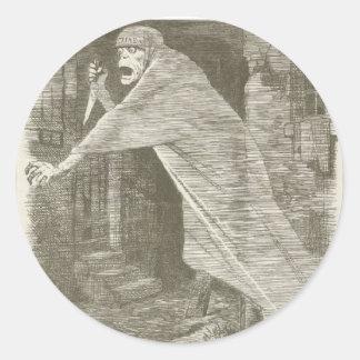 Nemesis of Neglect. Jack the Ripper satire Classic Round Sticker