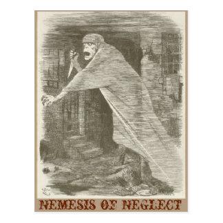 Nemesis of Neglect. Jack the Ripper satire Postcard