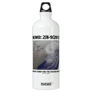 Nemo: 2/8-9/2013 Winter Storm Record Books Aluminum Water Bottle