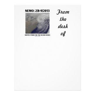 Nemo: 2/8-9/2013 Winter Storm Record Books Custom Letterhead