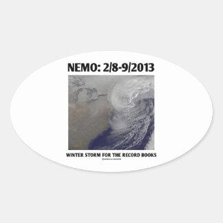 Nemo: 2/8-9/2013 Winter Storm Record Books Oval Sticker