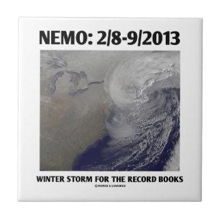 Nemo: 2/8-9/2013 Winter Storm Record Books Small Square Tile