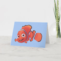 Standard Card with Cute Nemo of Finding Nemo design