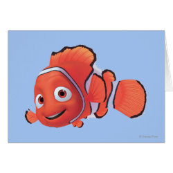 Greeting Card with Cute Nemo of Finding Nemo design