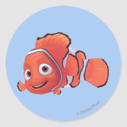 Cute Nemo of Finding Nemo Round Sticker