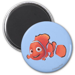 Round Magnet with Cute Nemo of Finding Nemo design