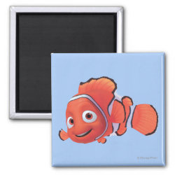 Square Magnet with Cute Nemo of Finding Nemo design