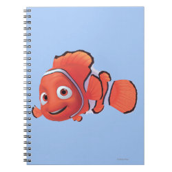 Photo Notebook (6.5' x 8.75', 80 Pages B&W) with Cute Nemo of Finding Nemo design