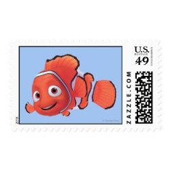 Medium Stamp 2.1' x 1.3' with Cute Nemo of Finding Nemo design