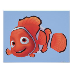 Matte Poster with Cute Nemo of Finding Nemo design