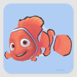 Square Sticker with Cute Nemo of Finding Nemo design