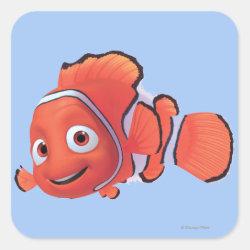 Square Sticker with Cute Nemo of Finding Nemo design