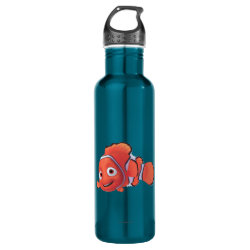 Water Bottle (24 oz) with Cute Nemo of Finding Nemo design