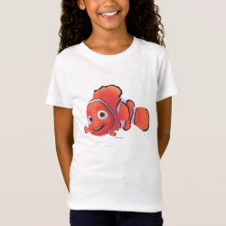 Cute Nemo of Finding Nemo Girls' Fine Jersey T-Shirt