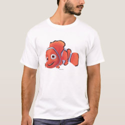 Men's Basic T-Shirt with Cute Nemo of Finding Nemo design