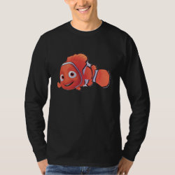 Cute Nemo of Finding Nemo Men's Basic Long Sleeve T-Shirt