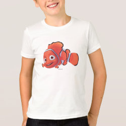 Kids' American Apparel Fine Jersey T-Shirt with Cute Nemo of Finding Nemo design