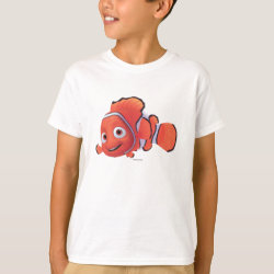 Kids' Hanes TAGLESS® T-Shirt with Cute Nemo of Finding Nemo design