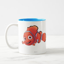 Cute Nemo of Finding Nemo Two-Tone Mug