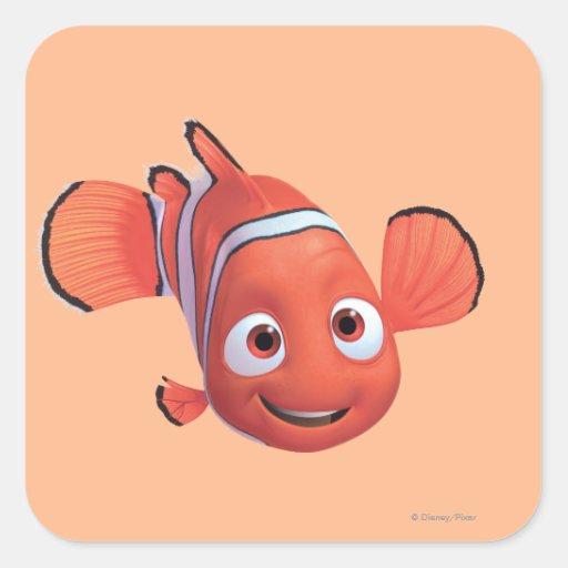 Nemo 4 calcomanía cuadradas personalizadas