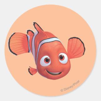 Nemo 4 pegatina redonda