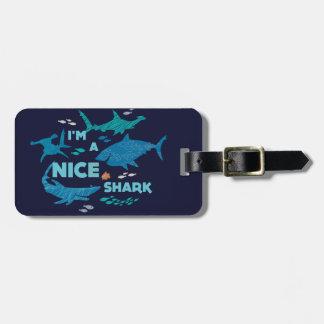 Nemo and Sharks - I'm A Nice Shark Bag Tag