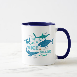 Nemo and Sharks - I'm A Nice Shark Mug