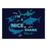 Nemo and Sharks - I'm A Nice Shark Poster