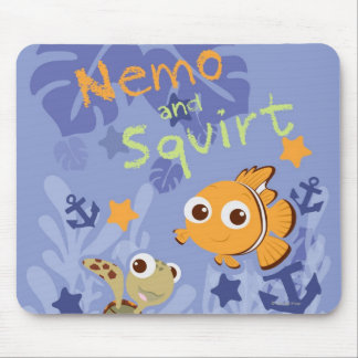 Nemo and Squirt Mouse Pad