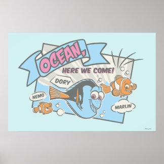 Nemo, Dory & Marlin   Ocean Here we Come Poster