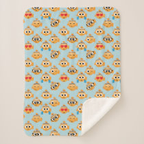 Nemo Emoji Pattern Sherpa Blanket