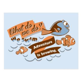 Nemo, Marlin & Dory | Adventure is Brewing Postcard